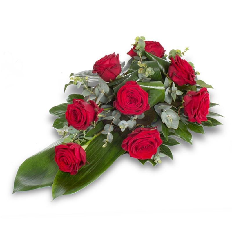 Bēru štrauss ar sarkanām rozēm