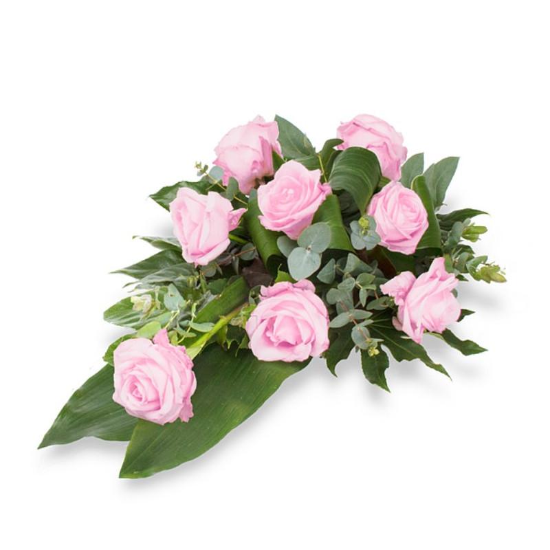 Bēru štrauss ar rozā rozēm