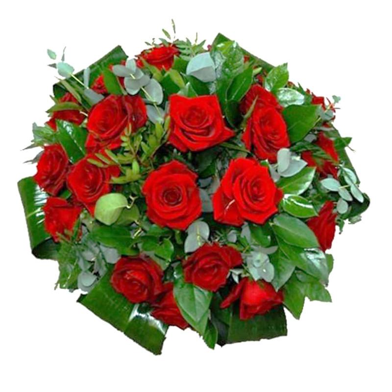 Bēru vainags ar sarkanām rozēm